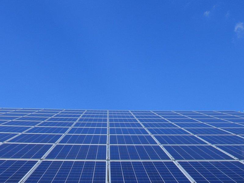 Solar array to sky