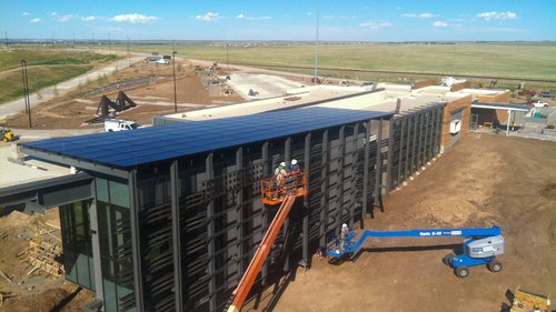 Southeast Wyoming Welcome Center solar installation and construction.