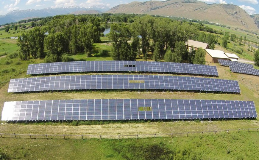 Town of Jackson waste water works solar array installation by Creative Energies.